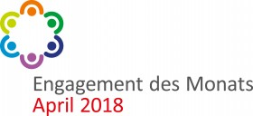 Logo Engagement des Monats April 2018