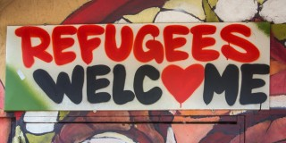 Graffiti: Refugees Welcome