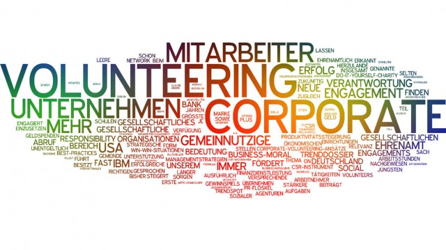 Wordcloud Corporate Volunteering
